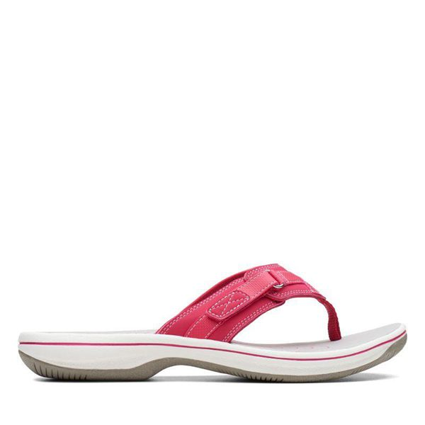 Damen Clarks Breeze Sea Zehentrenner - Rosa | Deutschland CI77-089