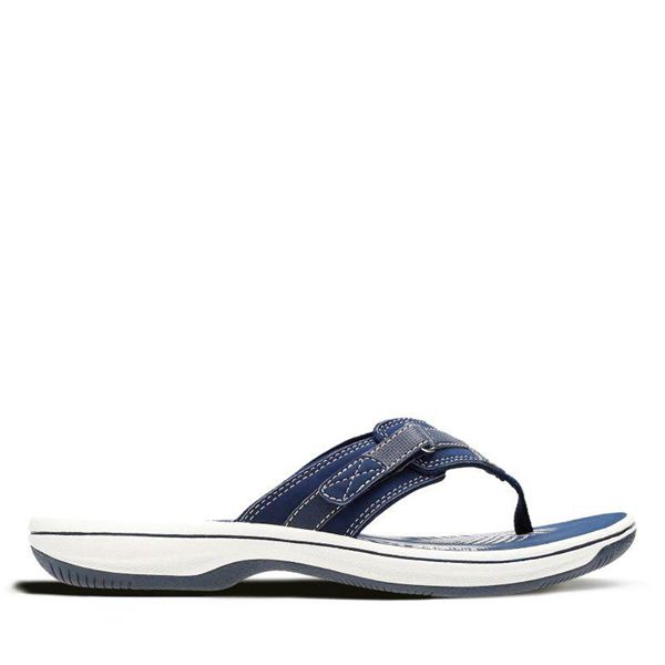 Damen Clarks Breeze Sea Zehentrenner - Marineblau | Deutschland YM07-567